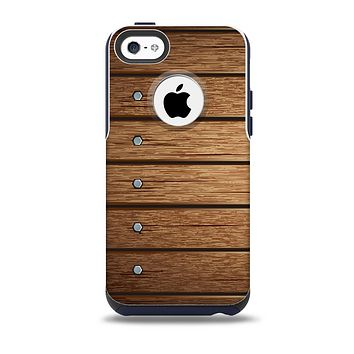 The Bolted Wood Planks Skin for the iPhone 5c OtterBox Commuter Case