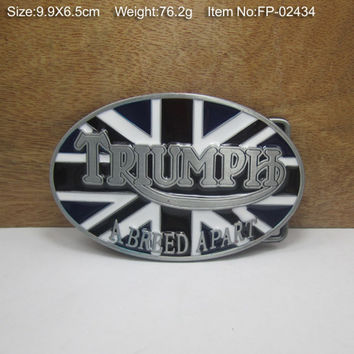 TRUIMP UK FLAG Cowboy Metal Belt Buckle Texas Fashion Mens Western Badge Feathers Native Avengers
