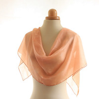 Soft Pink silk scarf naturally dyed scarf, light silk scarf warm pink silk, madder dyed shawl salmon coral pink scarf christmas gift for her