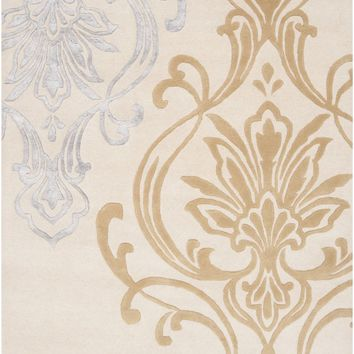 Modern Classics Medallion and Damasks Area Rug Neutral, Brown
