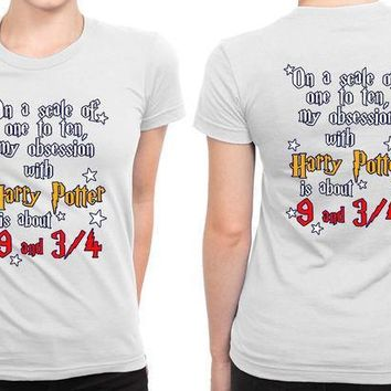 Harry Potter Obsession Train B 2 Sided Womens T Shirt