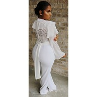 Dreamy Lace Bell Bottom Jumpsuit