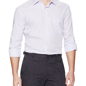 W.R.K. Tailoring Men's Gingham Pocket Dress Shirt - Purple -