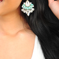 Every Little Thing Earrings: Mint