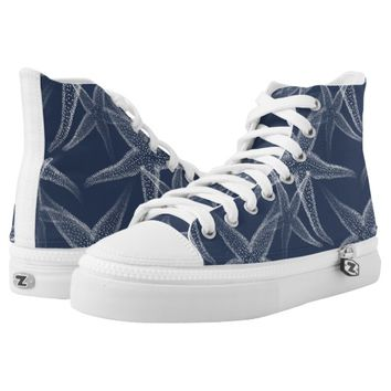Starfish Navy Blue Beach Shoes Printed Shoes