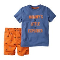 Carter's® Explorer Tee and Shorts Set - Toddler Boys 2t-5t