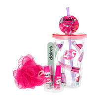 Lipstick and Kisses Tumbler with Beauty Products Gift Set