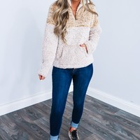 Snuggle Up Pull Over: Dusty Mustard/Sand