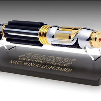 Star Wars Episode II Master Replicas Mace Windu 0.45 Scaled Mini Lightsaber EP II 0.45