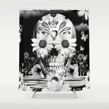 Dreaming of daisies Shower Curtain by Kristy Patterson Design