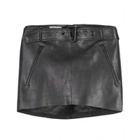 Acne Belted Micro Mini Leather Skirt