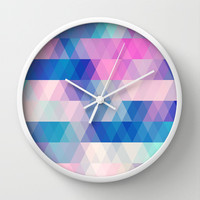 diamonds Wall Clock by Sylvia Cook Photography
