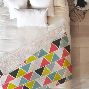 Heather Dutton Triangulum Fleece Throw Blanket