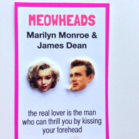 James Dean & Marilyn Monroe earrings