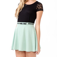 Relaxed Lace Trimmed Tee