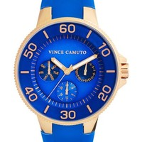 Vince Camuto Silicone Strap Watch, 38mm