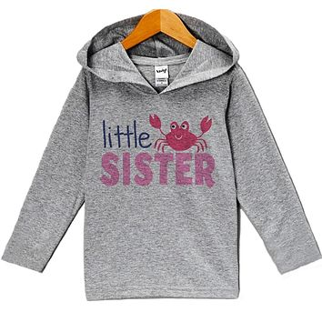 Custom Party Shop Baby Girl's Little Sister Summer Hoodie Pullover