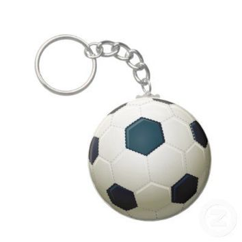 SOCCER BALL KEYCHAIN from Zazzle.com