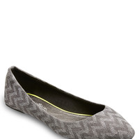 Chevron Pointed Ballet Flats | Wet Seal