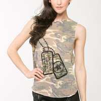 Destroyed Camo Muscle Tank