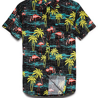 Tropical Print Cotton Shirt