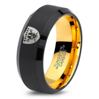 Oakland Raiders Ring Mens Fanatic NFL Sports Football Boys Girls Womens NFL Jewelry Fathers Day Gift Tungsten Carbide 166-Y