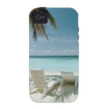 Palm Tree and Beach Chair 2 Case-Mate iPhone 4 Cover from Zazzle.com