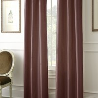 Faux Dupioni Black Out Curtains (Ruby)