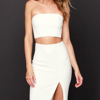 Say I Deux Cream Two-Piece Dress