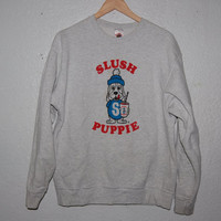 90s Slush Puppie Heather Grey Grunge Pullover Sweater Jumper Large