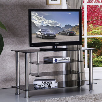 Marabel Black Tempered Glass TV Stand 91062A