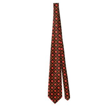 Dark geometric pattern neck tie