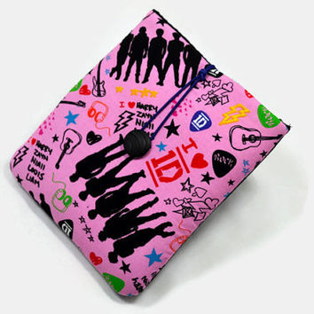 Hand Crafted Tablet Case from One Direction Fabric/ Case for  iPadmini, Kindle Fire HD7, Samsung Galaxy Tab7, Google Nexus 7,Nook HD 7
