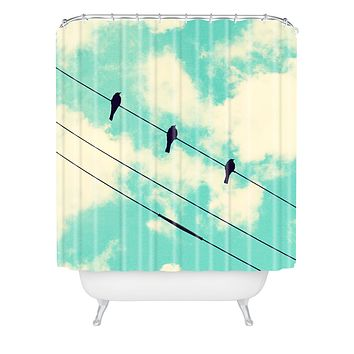 Shannon Clark Three Little Birds Shower Curtain