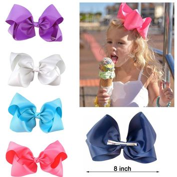 10 pcs/lot  Grosgrain Ribbon 8 inch Big Hair Bow