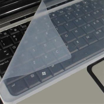 "Good Sale Universal Silicone Keyboard Protector Skin For Laptops Notebooks 15"" Drop Shipping May 31"