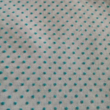 Vintage fabric, Polka dots, Dimple dots, textured fabric, blue, sewing, quilting, fabric by the yard