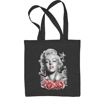 Marilyn Monroe Starlet With Roses Shopping Tote Bag