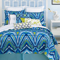 Trina Turk Bedding, Blue Peacock Comforter and Duvet Cover Sets - Bedding Collections - Bed & Bath - Macy's