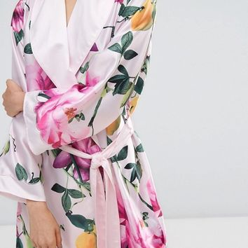 B By Ted Baker Citrus Bloom Kimono at asos.com