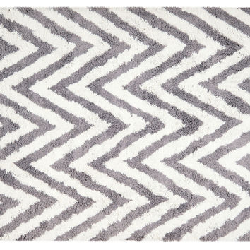 "8'9""x12' Jane Shag Rug, Ivory/Gray, Area Rugs"