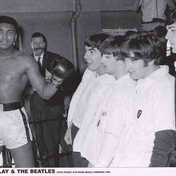 Muhammad Ali with The Beatles Poster 24x33