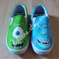 Monsters Inc / Monsters High Hand Painted Pumps Shoes