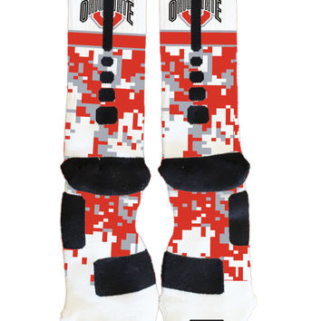 The Ohio State University Buckeyes - Custom Nike Elite Socks - Socktimus Prime