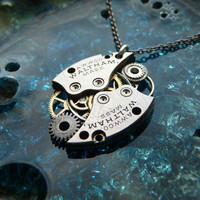 Clockwork Pendant Vortex Recycled Mechanical by amechanicalmind