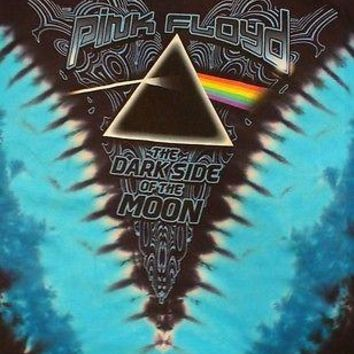 New PINK FLOYD TIE DYE V DIE DARK SIDE OF THE MOON PRISM- LICENSED T-Shirt