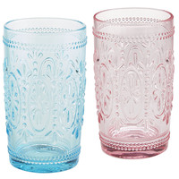 Clara Pressed Glass Tumblers
