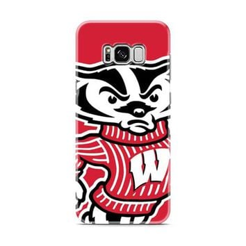Wisconsin Badgers logo red Samsung Galaxy S8 | Galaxy S8 Plus case