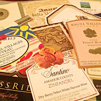 Vintage Wine Labels - Ephemera Collage Creative Spark Vintage Paper Pack - genuine labels - california - france - winery - wines - stocking