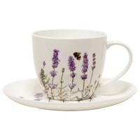 Lavender Cup and Saucer